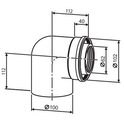 buderus-90-Ø60-100mm-koncentricke-koleno
