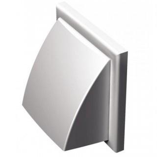 Obrazok Protidažďová mriežka Ø125mm, plast biela